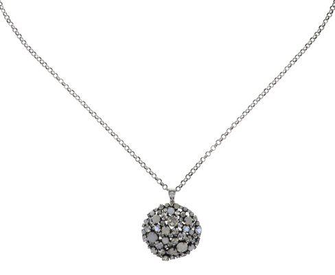 Konplott Ballroom Halskette mit Anhänger in weiß #5450543728421