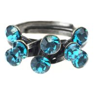 Konplott Magic Fireball 8 Stein Ring in indicolite, blau