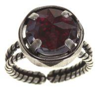 Konplott Medieval Pop Ring dunkelrosa Stein klein #5450543639482