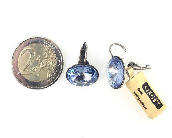 Konplott Rivoli light sapphire Ohrhänger mit Klappverschluss #5450527495318