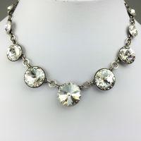 Konplott Rivoli crystal weiße Halskette steinbesetzt