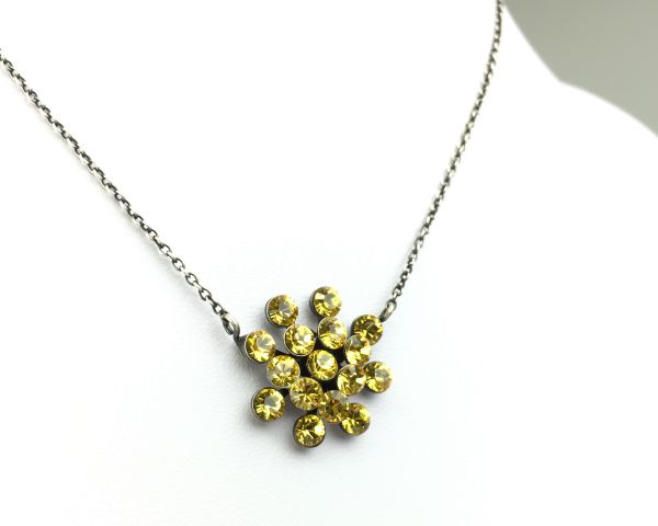 Konplott Magic Fireball Halskette mit Anhänger in light topaz, gelb #5450527640602