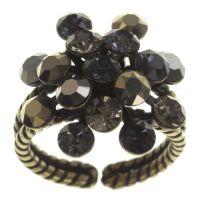 Konplott Magic Fireball Ring schwarz/ grau/ silber #5450543685762