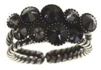 Konplott Water Cascade Ring in schwarz antik silber #5450543686134