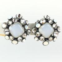 Konplott Caviar de Luxe weiße Ohrclips #5450543478036