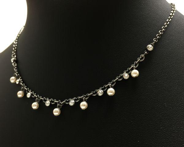 Konplott Pearl Shadow crystal Halskette partiell steinbesetzt #5450527598897