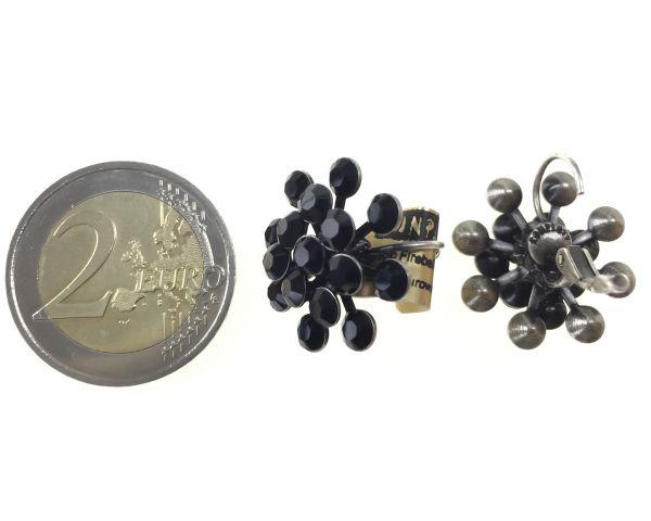 Konplott Magic Fireball Ohrhänger mit Klappverschluss in jet, schwarz #5450527612197