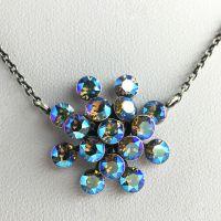Konplott Magic Fireball blau/lila diamond shimmer Halskette mit Anhänger #5450543631301