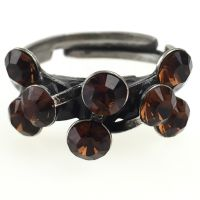 Konplott Magic Fireball 8 Stein Ring in smoked topaz, braun