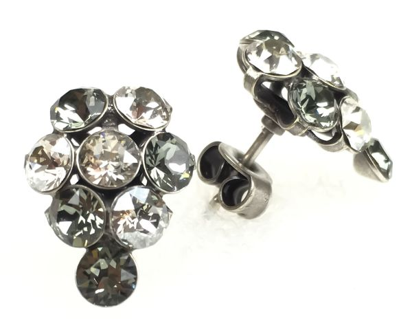 Konplott Magic Fireball crystal satin Ohrstecker Traube #5450527778374