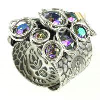 Konplott Sparkle Twist lila vitrail Ring #5450543299853