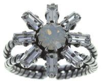 Konplott Spider Daisy Ring in weiß Größe S