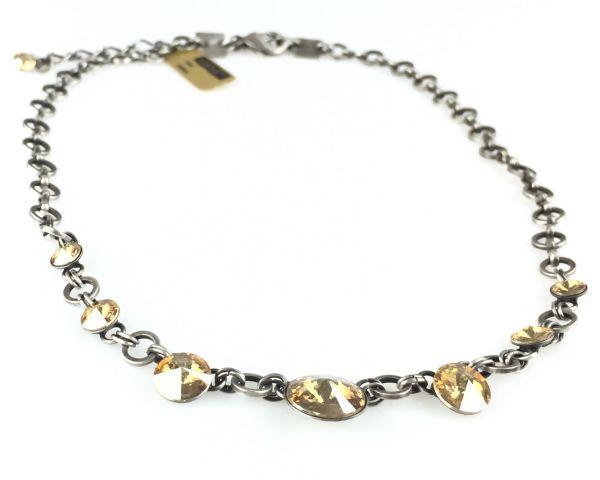 Konplott Rivoli crystal golden shadow Halskette partiell steinbesetzt #5450527640756