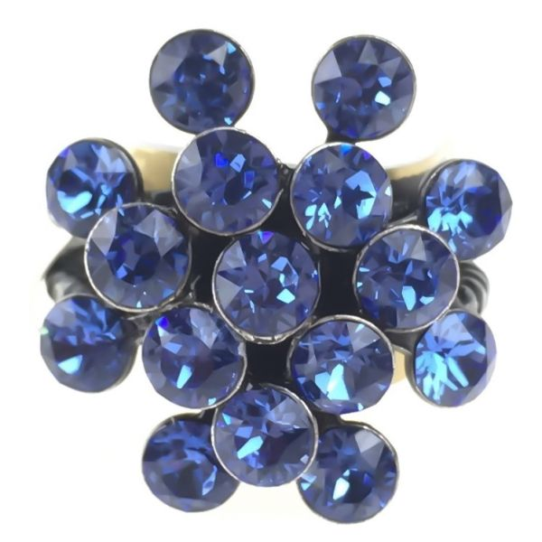 Konplott Magic Fireball 16 Stein Ring in sapphire #5450527611725