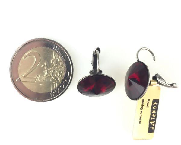 Konplott Rivoli rote Ohrhänger mit Klappverschluss #5450527495356
