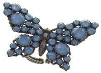 Konplott Lost Garden Ring pastel multi blau, Schmetterling #5450543652740