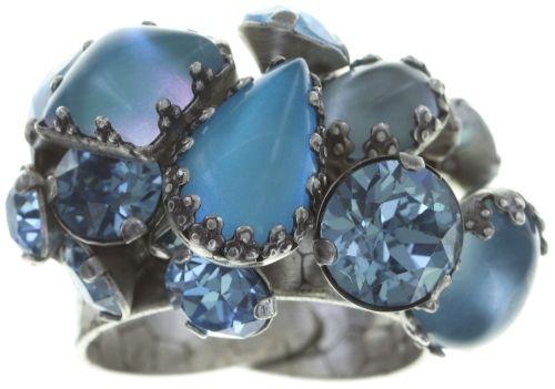 Konplott Jelly Star Ring in hellblau #5450543714387