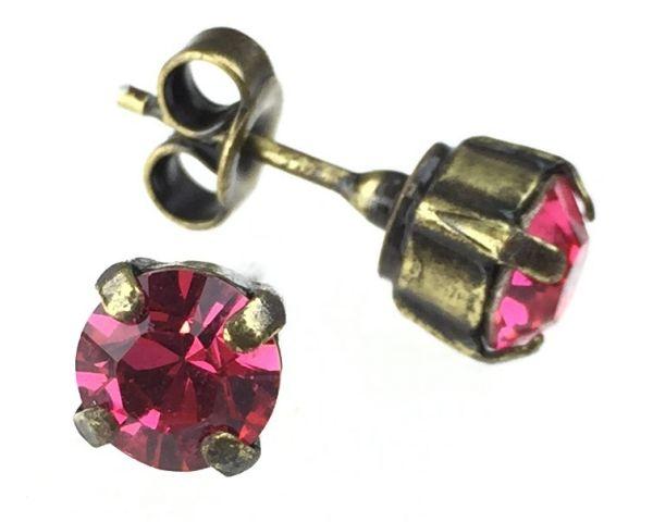 Konplott Black Jack Ohrstecker eckig in indian pink, pink/rot #5450527612333