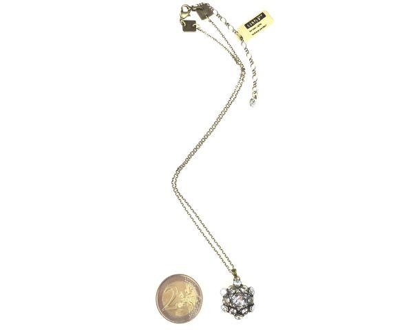 Konplott Bended Lights Halskette mit Anhänger in Weiß #5450527759007