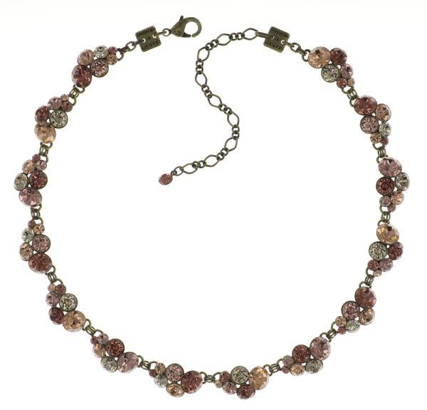 Petit Glamour steinbesetzte Halskette in beige