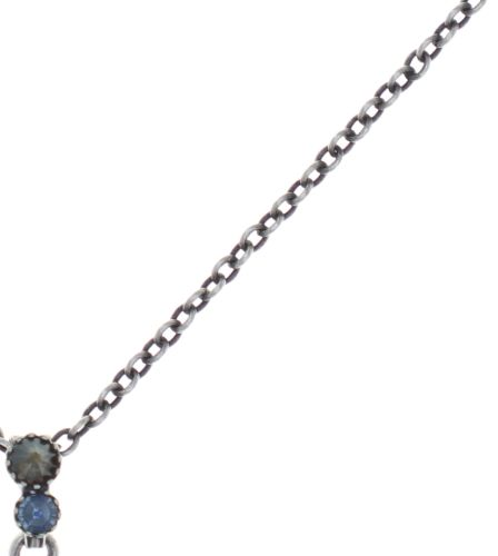 Konplott Water Cascade Halskette mit Anhänger in blau/braun #5450543753874