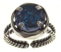 Konplott Medieval Pop Ring blauer Stein klein #5450543639543