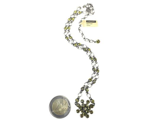 Konplott Magic Fireball Halskette steinbesetzt mit Anhänger in khaki #5450527640275
