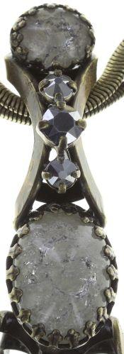 Konplott Dracula Bride Halskette mit großen Steinen in weiß NUR NOCH KURZE ZEIT VERFÜGBAR #5450543675008