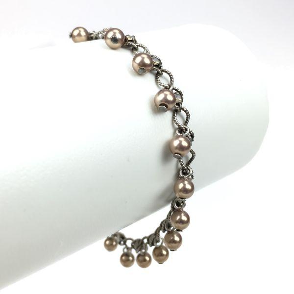 Konplott Dutchess beige light grey opal Armband verschließbar #5450543272016