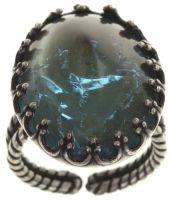 Konplott Dracula Bride Ring in hellblau mit sehr großem Stein Größe XL #5450543686455