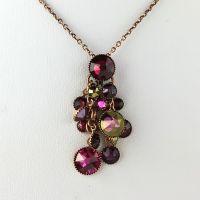 Konplott Waterfalls pinke Halskette mit Anhänger #5450543614311