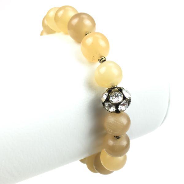 Konplott Earth, Wind & Glamour beiges Armband elastisch #5450543316451