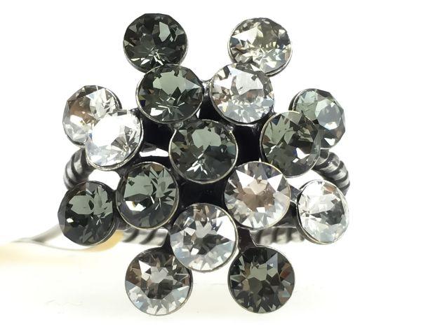 Magic Fireball crystal satin 16 Stein Ring