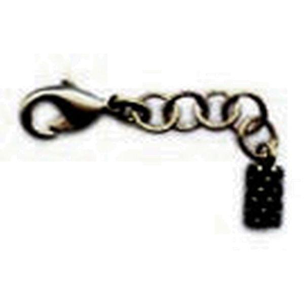 Konplott Armband Verlängerung in dunklem silber/schwarz #5450527800440