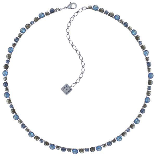 Konplott Water Cascade steinbesetzte Halskette in blau/braun #5450543772905
