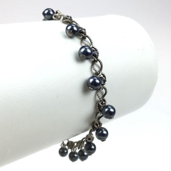 Konplott Dutchess black crystal silver night Armband verschließbar #5450543351384