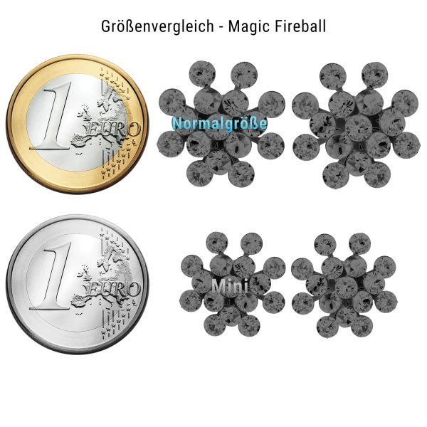 Konplott Magic Fireball Halskette mit Anhänger in crystal silver night #5450527767088