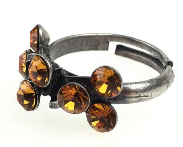 Konplott Magic Fireball 8 Stein Ring in topaz, gelb/braun #5450527640565
