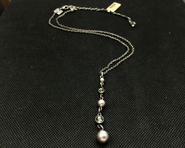 Konplott Pearl Shadow black diamond Halskette in Y-Form #5450527506038