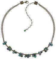 Konplott Ballroom grün/lila Halskette steinbesetzt #5450543646060