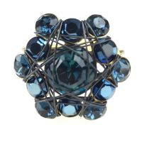Bended Lights Ring in Blau