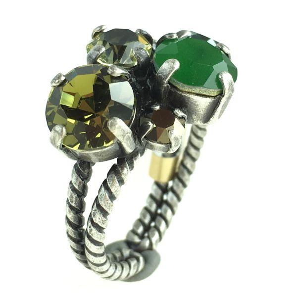Konplott Ballroom Classic Glam grün/brauner Ring #5450543611457