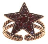 Dancing Star Ring in rot Größe M