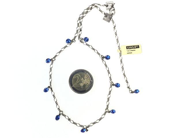 Konplott Tutui sapphire Halskette steinbesetzt #5450527591508
