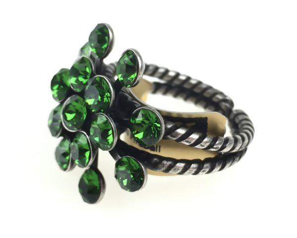 Konplott Magic Fireball 16 Stein Ring in Farn grün #5450527778305