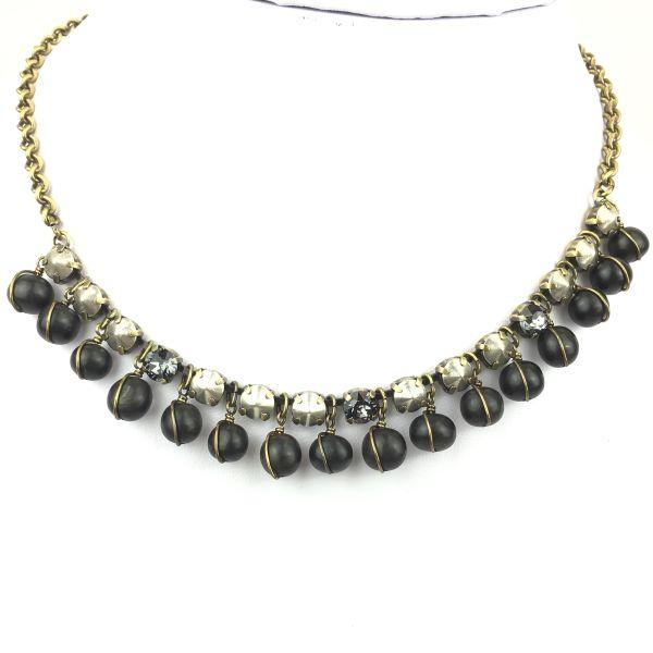 Konplott Earth, Wind & Glamour schwarze Halskette steinbesetzt #5450543458588