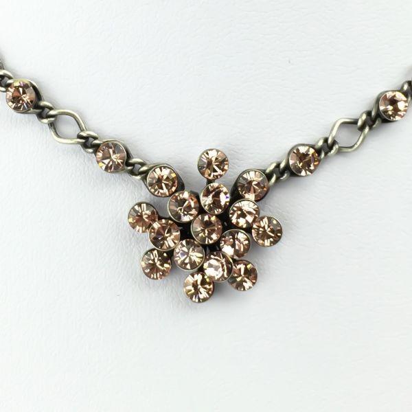 Konplott Magic Fireball Halskette steinbesetzt mit Anhänger in vintage rose #5450527611923