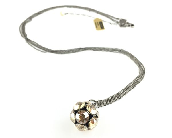 Konplott Disco Balls crystal golden shadow Halskette lang mit Anhänger L #5450527640671