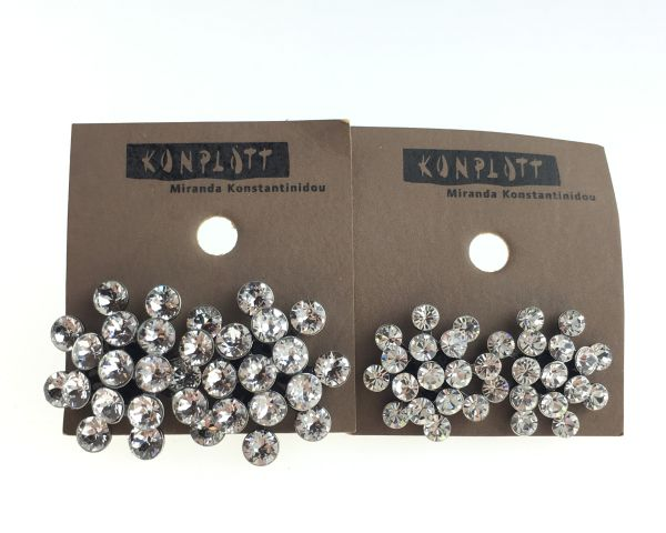 Konplott Magic Fireball white crystal Ohrstecker klassisch mini #5450543656304