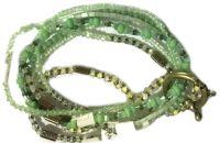 Petit Glamour d'Afrique Armband in grün